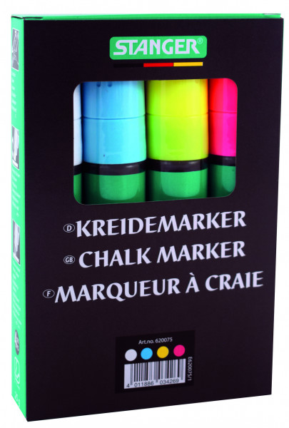 Kreidemarker 2-4 mm / 5-15 mm (4er Set)