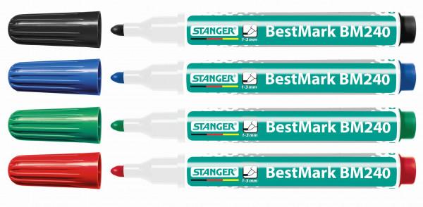 BM240 Marqueurs pour tableaux blancs 1-3 mm (lot de 4)