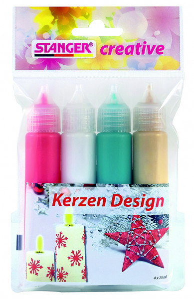 Kerzen Design 25 ml (4er Set)
