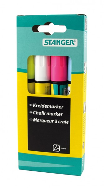 Chalk marker 3 - 5 mm / 8 - 15 mm (set of 4)