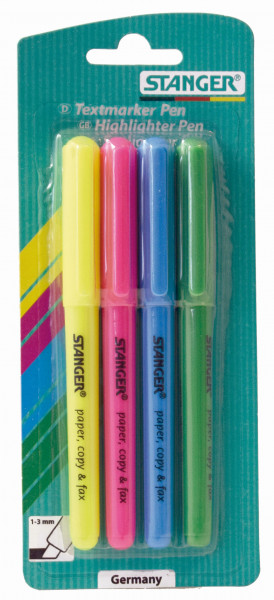 Textmarker Pen 1 - 3 mm (4er Set)