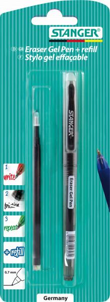 Eraser Gel Pen + 1 Recharge 0,7 mm