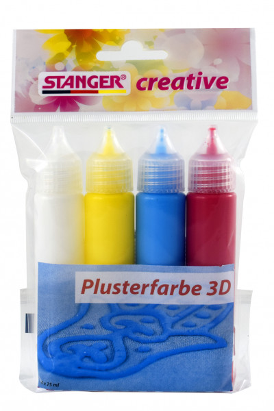 Plusterfarbe 3D 25 ml (4er Set)