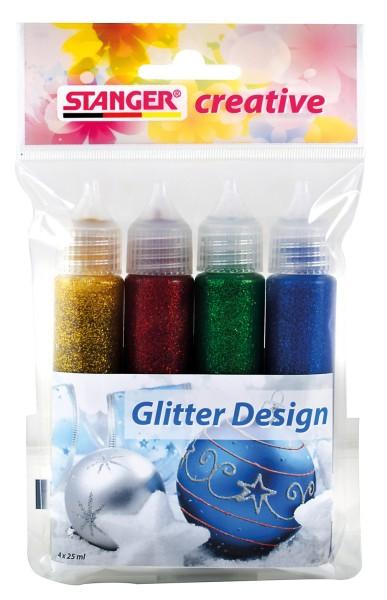 Glitter Design 25 ml (4er Set)