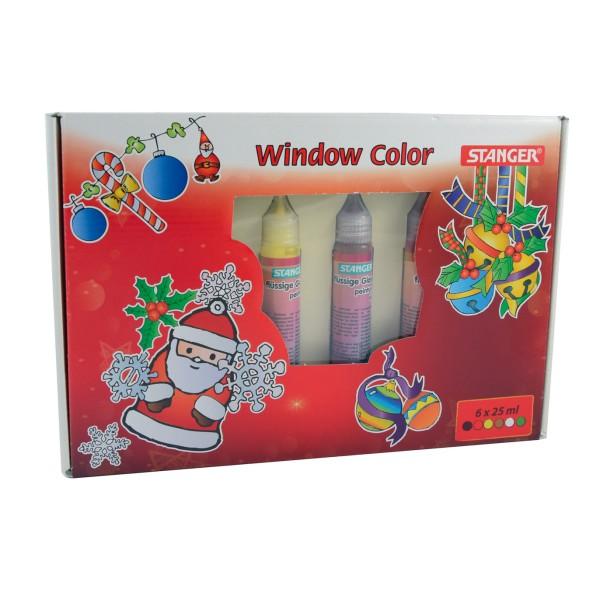 Window Color Set Merry Christmas (6 x 25 ml)